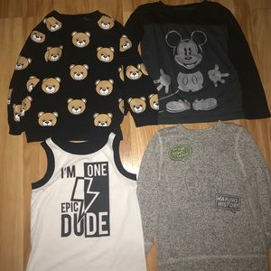 Other - Trendy modern 4 pc lot of boy shirts!!! Size 2T